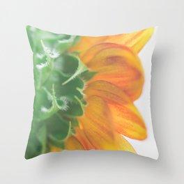 Seek the Light - Sunflower Photography Throw Pillow