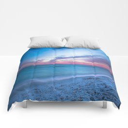 If By Sea - Sunset and Emerald Waters Near Destin Florida Comforters