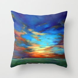 Sunset in the Heartland Throw Pillow