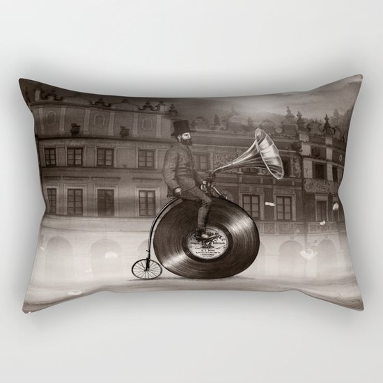 Music Man in the City, by Eric Fan and Viviana González Rectangular Pillow