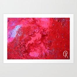 Pink Nebula Original Abstract Painting, Mixed Media On Canvas, Contemporary Artist, Abstract Artwork Art Print