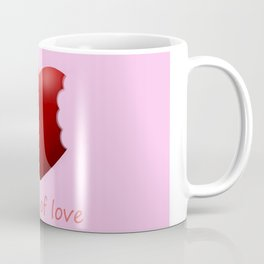 a bite of love (nibbled heart) pink Coffee Mug