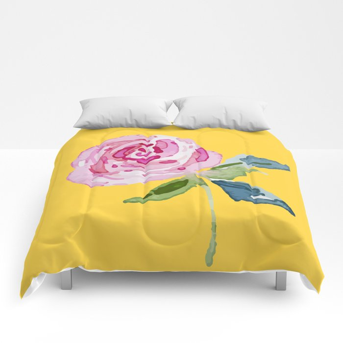 Watercolor Rose Comforters