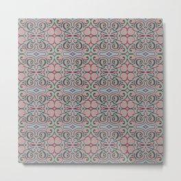 Swirly folklore pattern Metal Print