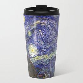 VAN GOGH STARRY NIGHT TARDIS Travel Mug
