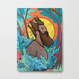 The woodland king Metal Print