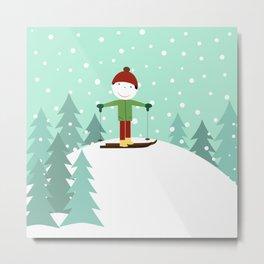 Small skier Metal Print
