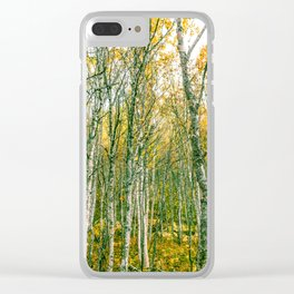 Silver Birches Clear iPhone Case