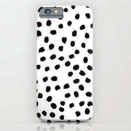 Black daps on white iPhone Case