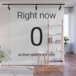 Zero Active Users! Wall Mural