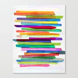 Colorful Stripes 1 Canvas Print