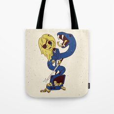 California Mountain Snake VS Black Mamba Tote Bag