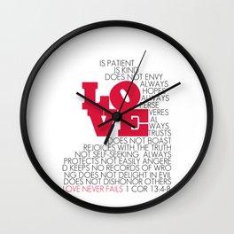 LOVE. 1 Corinthians 13:4-8. Wall Clock