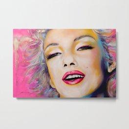Graffiti tribute to Marilyn original painting Metal Print