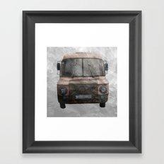 retro bus Framed Art Print