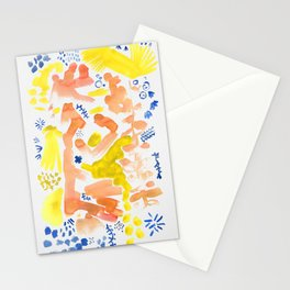 Abstract Floral II   Color 2 Stationery Cards