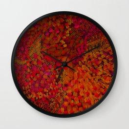 Crimson Watercolor Painting Wall Clock