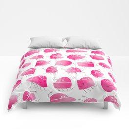 Pink Underbite Monsters Comforters