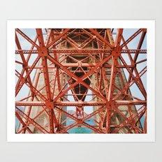 Golden Gate 3 Art Print