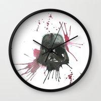 dark side Wall Clocks featuring Dark Side by SpooksieBoo