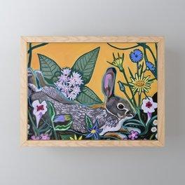 Rabbit Kickin' Back Framed Mini Art Print