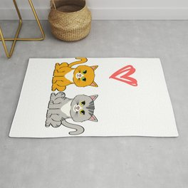 Unique Gift for Cat Lovers T-shirt Minimal Design Kitty Kitten Animals Fur Cute Owners Claw Rug