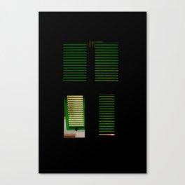 finestra verde Canvas Print