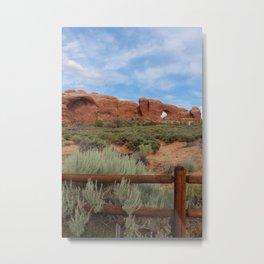 Vertical Arches National Park Metal Print