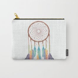 Gypsy Dreams Dreamcatcher on white with Gypsy Dreams Trim Carry-All Pouch