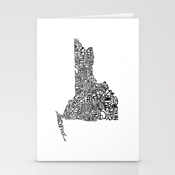 Typographic New York Stationery Cards