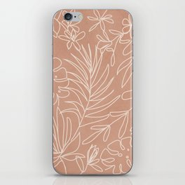 Engraved Tropical Line iPhone Skin