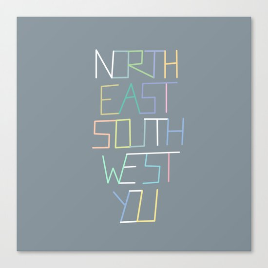 North East South West You Canvas Print