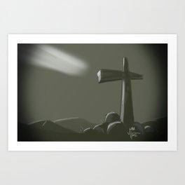 Inspired Cross Art Print
