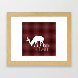Lumberjack Plaid Deer Framed Art Print