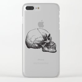 Human Skull Sideview Anatomy Detailed Illustration Clear iPhone Case