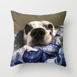 Queen of the Saturday Morning Blankies Throw Pillow