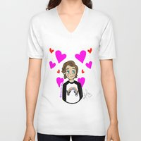 louis tomlinson V-neck T-shirts featuring Lovely Louis Tomlinson  by drawbyana