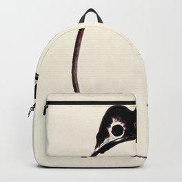Toad Meika Gafu Vintage Illustration by Matsumoto Hoji Ukiyo-e Sad Unimpressed Minimalist Painting  Backpack