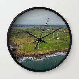 Aerial view of Carnsore Wind Farm Wall Clock