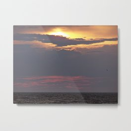 Cloud covered Sea  Metal Print