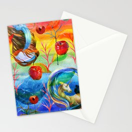 Abstract unicorns mistic design Stationery Cards