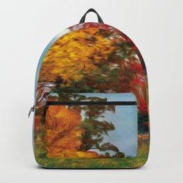 Red Barn Fall Backpack