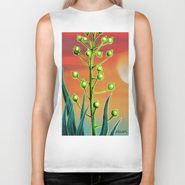 Wild plant at sunset Biker Tank