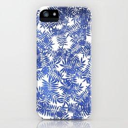 Rowan/ Mountain Ash - Blue metallic on white iPhone Case