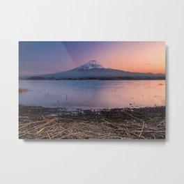 Mount Fuji at sunset Metal Print