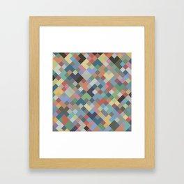 Geometric No. 26 earth mosaic Framed Art Print
