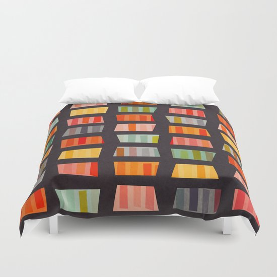 BEACH TOWELS ON BASALT Duvet Cover
