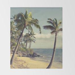Maui Lu Beach Kihei Maui Hawaii Throw Blanket