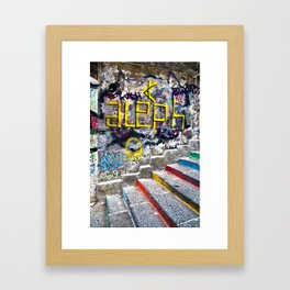 Sicilian Facade with Graffiti Framed Art Print