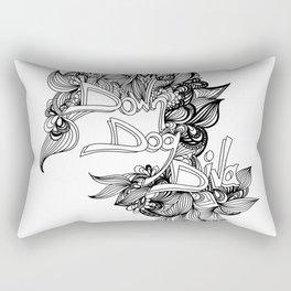 down dog diva black & white Rectangular Pillow